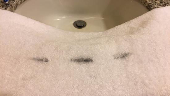 Maricopa, AZ: Stained towels left in room as clean.