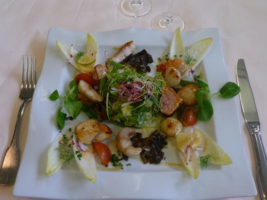 Auberge Hôtel-Restaurant Le Ratelier : salade de st jacques