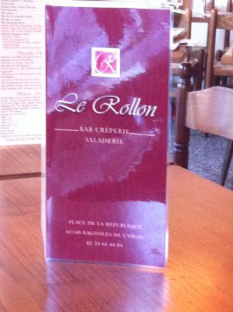 La carte - Photo de Le Rollon - Restaurant Creperie