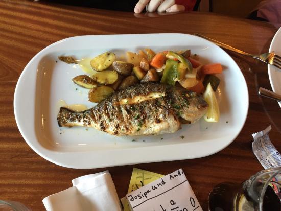 El Pulpo: Orata con verdure grigliate