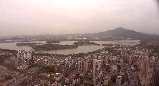 Celebrity City Hotel: The Xuanwu Lake from 48th floor