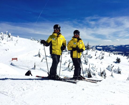 Two of the wonderful Big White Snow Hosts