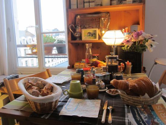 Les Toits du Marais: breakfast!