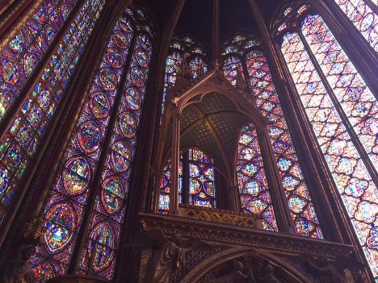 Παρίσι, Γαλλία: Sainte Chapelle windows