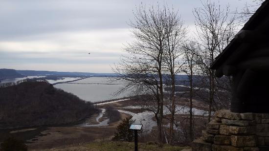 Trempealeau, Висконсин: Top view (where East,West,North trails meet)