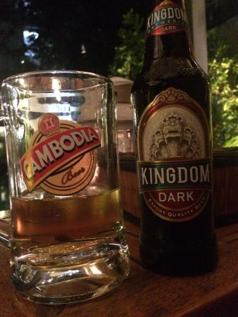 the 252: enjoying our first tasting of local Cambodian Beer - we agree!