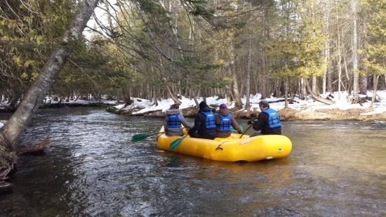 East Jordan, MI: A winter's day rafting the Jordan River.