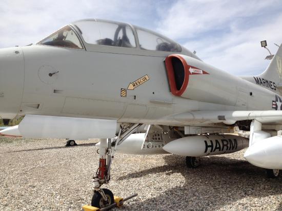 China Lake Naval Weapons Center: Outside planes to view