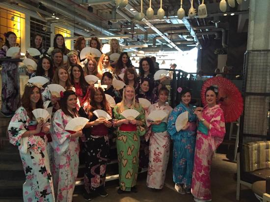 5beec1898 Japanese Kimono Hen Party - Picture of The Parlour Bar & Restaurant ...