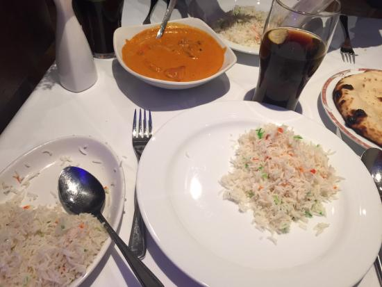 rajasthan restaurant chicken tikka masala and rice