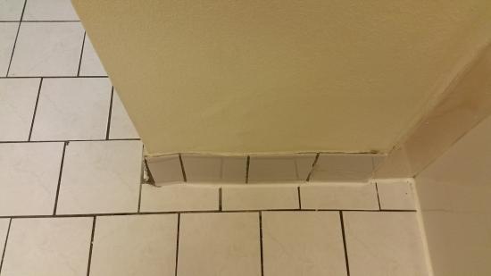 Best Western Plus Music Row Crooked Bulging Tile In Bathroom
