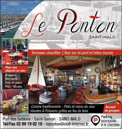 le ponton saint malo restaurant avis num ro de t l phone photos tripadvisor. Black Bedroom Furniture Sets. Home Design Ideas