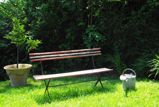 Villa La Croix Basque: Un autre banc dans ce vaste jardin