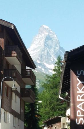 View of the Matterhorn from near the Hotel Firefly