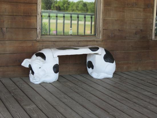 General McArthur's: Bench on the porch