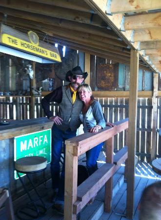 Lost Horse Saloon: Me An Ty, The Famous Cowboy And Owner, On The