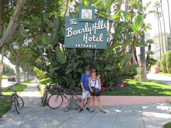 in front of the beverly hills hotel this is on the longer bike rh tripadvisor co za