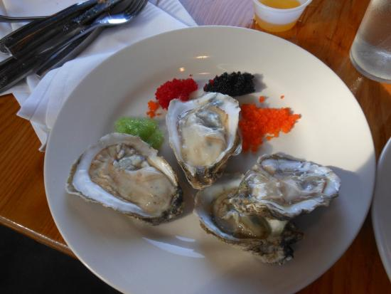 oysters on the half shell with caviar from buffet raw bar picture rh tripadvisor com