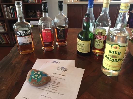 Nicole's Table : Rum tasting