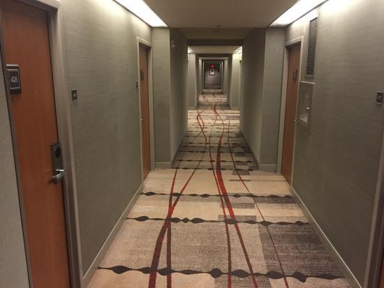 Hyatt Regency Reston: Hallway carpet