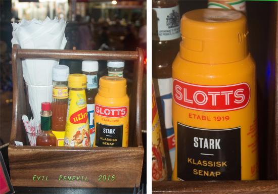 Harry's Apartments, Bar & Restaurant.: Swedish mustard