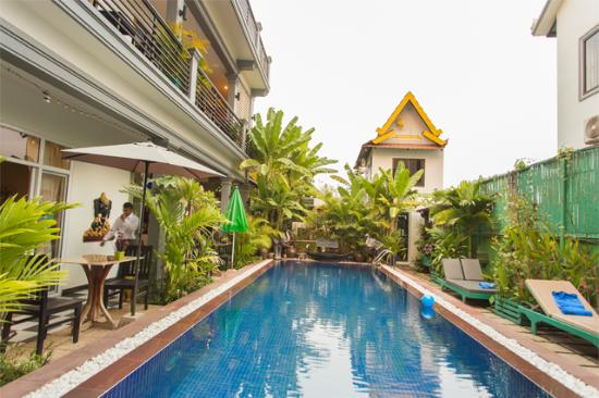 Asanak D'Angkor Boutique Hotel : Pool view