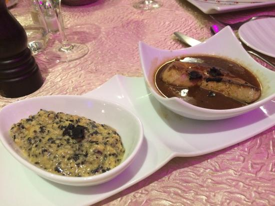 Sorges, ฝรั่งเศส: Menu découverte autour de la truffe ! Truffe à l'étouffée dans une croute de feuillage, sauce Pe
