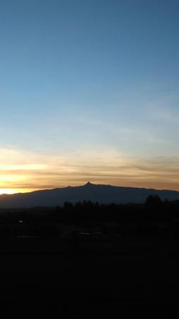 Crispy view of mt Kenya