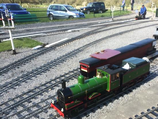 Gilling East, UK: Little trains