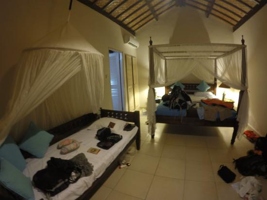 the inside of our messy room picture of kembali beach bungalows rh tripadvisor com ph