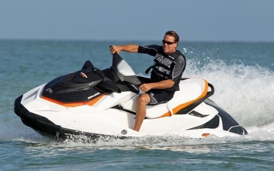 Kingsley, MI: single rider seedoo