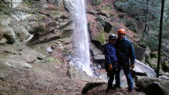 Trek Network: After the 130 foot waterfall rappel