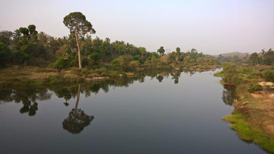 Ayurveda Yoga Villa: a walk along the river, early in the morning.