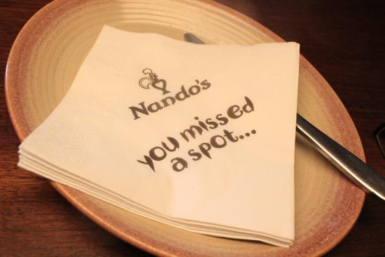 Nando's - Windsor: paper tissue