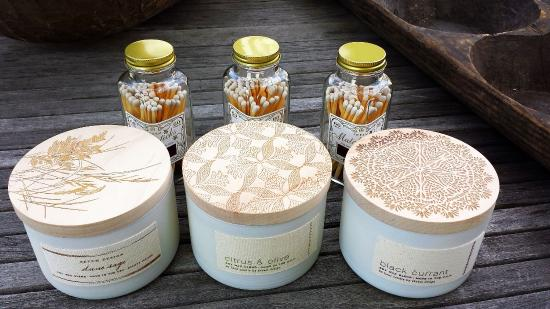 Washington, VA: Skeem Hand-poured Soy Candles and Bottles of Matches make cute gifts. Made in USA