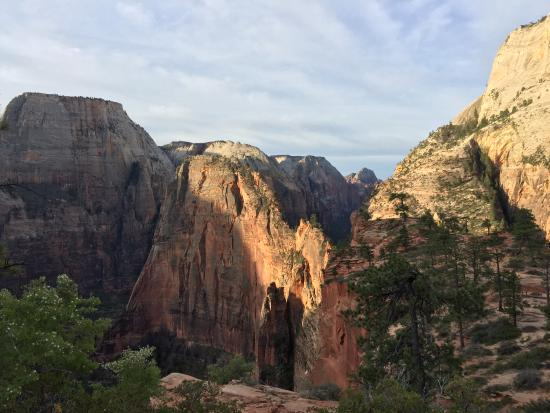 angels landing at sunrise picture of zion lodge zion national rh tripadvisor com