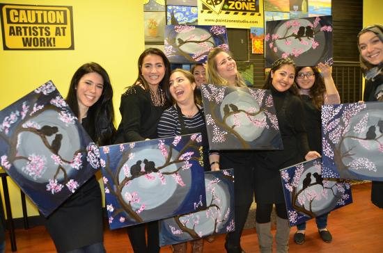 Rutherford, Nueva Jersey: paint and wine night