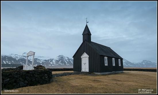 Budir Church Black At The Snæfellsnes Peninsula In Iceland