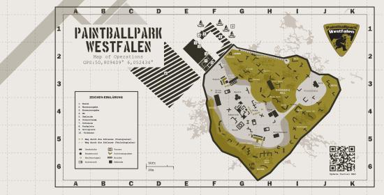 Paintballpark Westfalen: Map