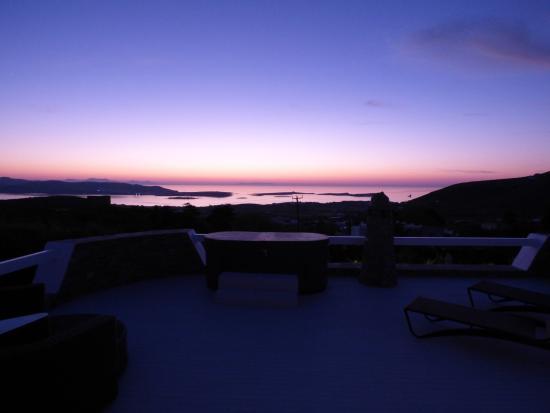 Blick Von Der Terrasse Bei Nacht Mit Dem Whirlpool Picture Of