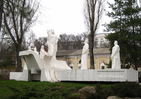 Sculpture Razin with the Troop