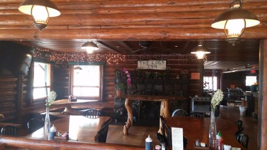 White Salmon, WA: The Logs Restaurant (cabin guests are each gifted a $10 voucher to use at our restaurant each ni