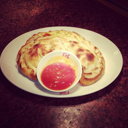 The award winning ABC salad and Newyork Calzone from frankie and  bennys  boldon  why not pop do