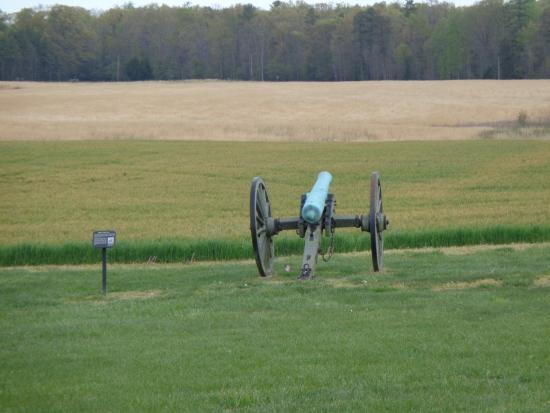Richmond National Battlefield Park : This is where the Union arm fired upon the Confederates who were charging across the field