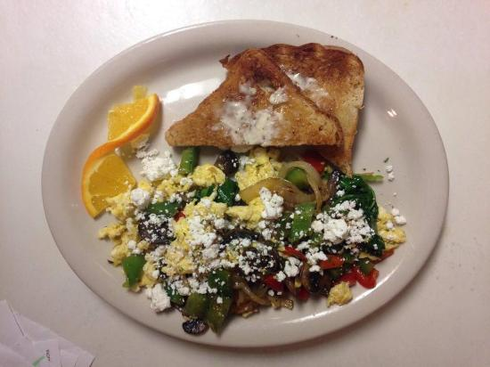 Lyndonville, VT: new veggie scramble with fresh ingredients.