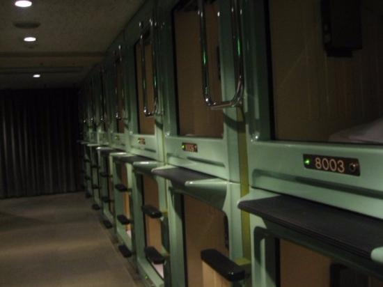 Capsule Hotel Asakusa Riverside: The capsule room.