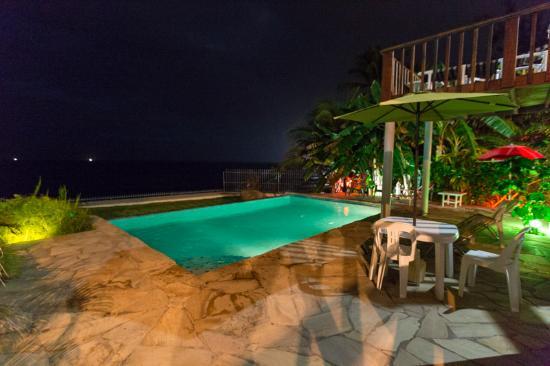 Birdie's Nest: Eco Smarte pool by night