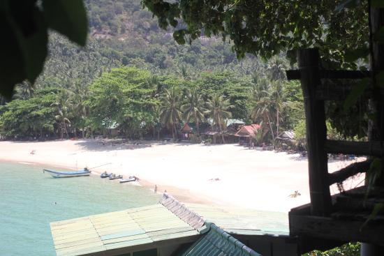 Mai Pen Rai Bungalows: View from bungalow on the rocks
