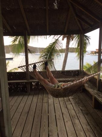 North Sound, Virgen Gorda: Hammock on the wraparound porch