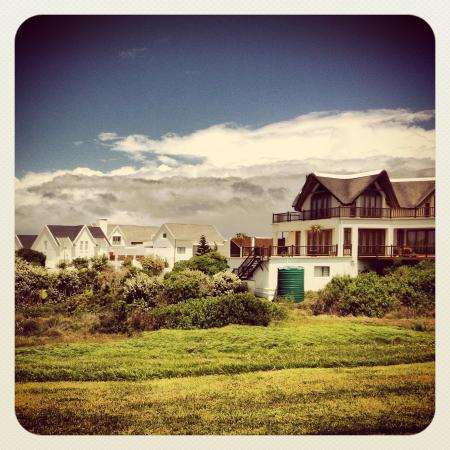 St Francis Bay Golf Club: Some of the beautiful houses next to the course.